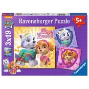 Ravensburger - Puzzle Psi Patrol Skye i Everest 3x49 080083