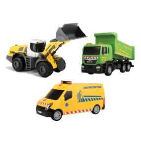 Dickie - Zestaw 3 pojazdów budowlanych 3725002 B