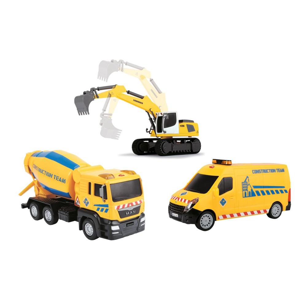 Dickie - Zestaw 3 pojazdów budowlanych 3725002 A