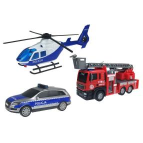 Dickie - SOS Zestaw 3 pojazdów ratunkowych 3715008