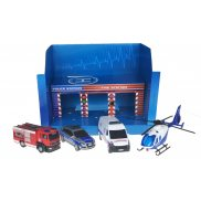Dickie - SOS Zestaw 4 pojazdów w garażu 3715009