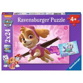 Ravensburger - Psi Patrol Skye i Everest Puzzle 2 x 24 elem. 091522