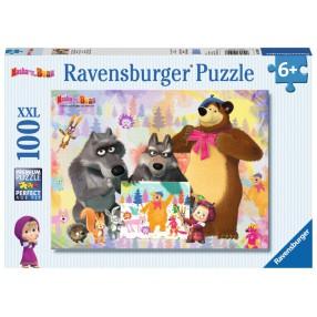 Ravensburger - Masza i Niedźwiedź Puzzle 100 elem. 105908