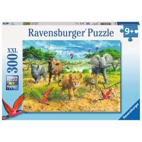 Ravensburger - Puzzle XXL Dzieci afrykańskich zwierząt 300 elem. 132195
