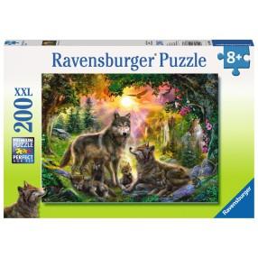 Ravensburger - Puzzle XXL Rodzina wilków w słońcu 200 elem. 126866