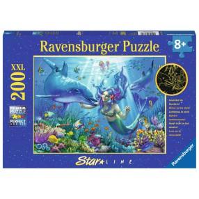 Ravensburger - Puzzle XXL Podwodny raj 200 elem. Świecą w ciemności 136780