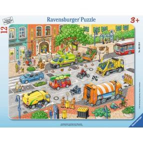 Ravensburger - Puzzle Życie miasta 12 elem. 061358