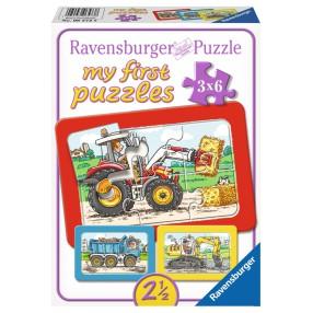 Ravensburger - Moje pierwsze puzzle Pojazdy 3 x 6 elem. 065738