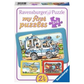 Ravensburger - Moje pierwsze puzzle Służby ratunkowe 3 x 6 elem. 061150