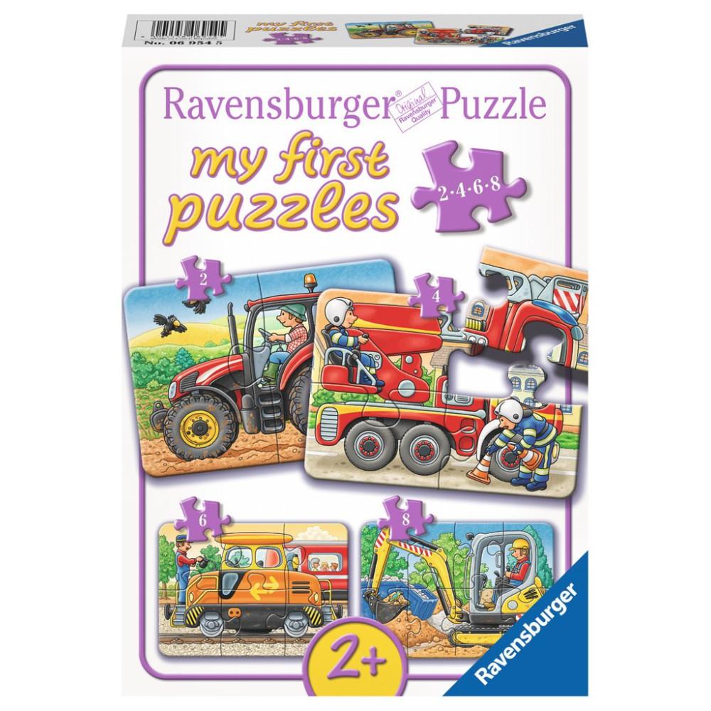 Ravensburger - Moje pierwsze puzzle W pracy 2-4-6-8 elem. 069545