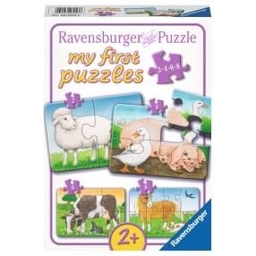 Ravensburger - Moje pierwsze puzzle Na wsi 2-4-6-8 elem. 069538