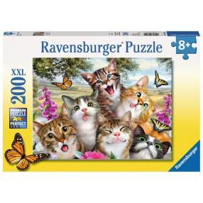Ravensburger - Puzzle XXL Zwariowane koty 200 elem. 126200