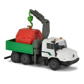 Majorette - Pojazdy miejskie Ciężarówka z dźwigiem Mercedes-Benz Zetros 2057500