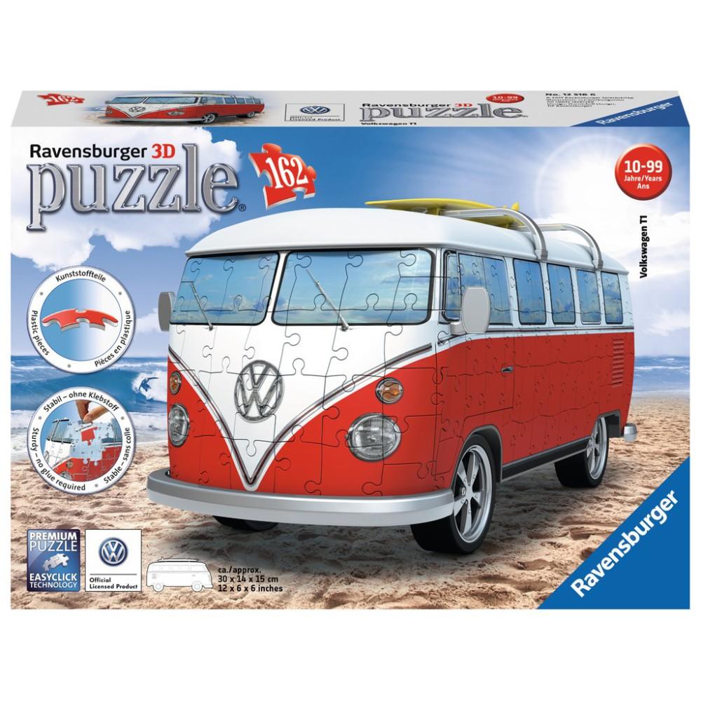 Ravensburger - Puzzle 3D Volkswagen Bus T1 162 elem. 125166