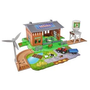 Majorette - Creatix Mała farma + 1 pojazd i 5 zwierzątek 2050007