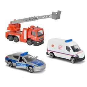 Majorette - Samochodziki SOS 3 szt. Straż, Policja, Ambulans 2057261 02