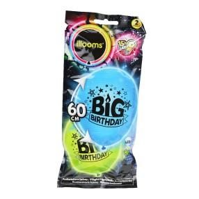 Illooms - Podświetlany balon LED Duży urodzinowy 2 szt. 80058