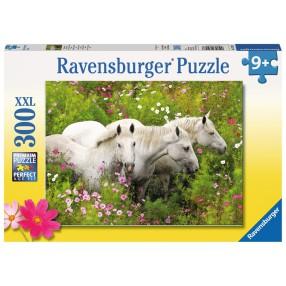 Ravensburger - Puzzle XXL Konie w kwiatach 300 elem. 132188