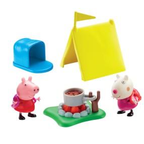 TM Toys Świnka Peppa - Zestaw Kemping Peppy i 2 figurki 05611