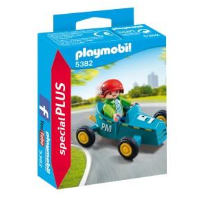 Playmobil - Chłopiec z gokartem 5382