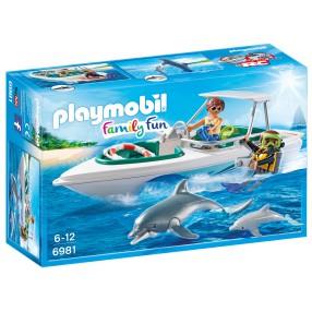 Playmobil - Nurkowie z motorówką 6981