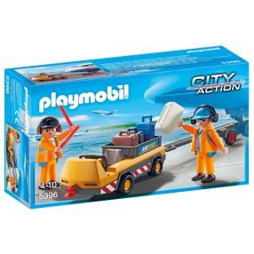 Playmobil - Holownik samolotu z kontrolerem ruchu 5396