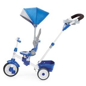 Little Tikes - Trójkołowy Rowerek Perfect Fit 4w1 Niebieski 643705