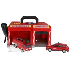 Dickie - Baza SOS Straż pożarna Światło Dźwięk 2 samochody 3716004