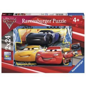 Ravensburger - Puzzle Auta 3 Zygzak, Cruz i Jackson 2 x 24 elem. 078103