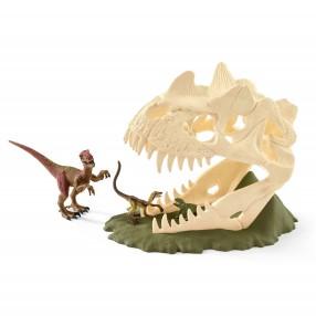Schleich - Czaszka dinozaura - pułapka z Velociraptorem 42348