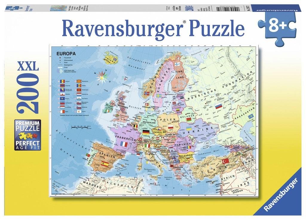 Ravensburger Puzzle Xxl Mapa Polityczna Europy 200 Elem 128372