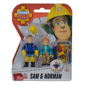 Simba - Strażak Sam 2 Figurki z akcesoriami Sam i Norman 9257651 B