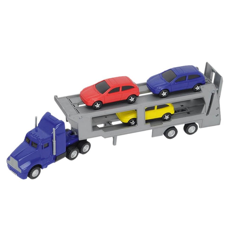 Dickie City - Laweta z 3 samochodami Niebieska 3746000 C