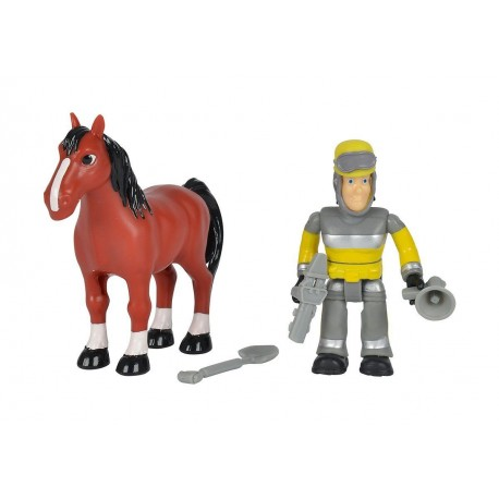 Simba - Strażak Sam Zestaw 2 figurek Sam i koń 9259746