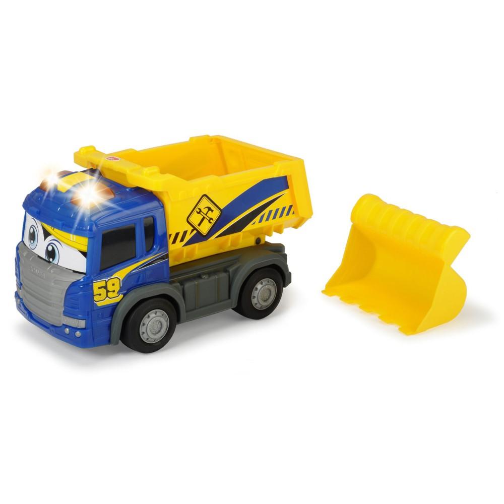 Dickie - Happy Scania Wywrotka z napędem Światło Dźwięk 3816002