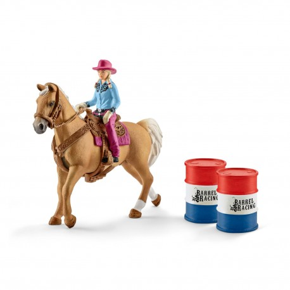 Schleich - Kowbojka w wyścigu przez beczki 41417
