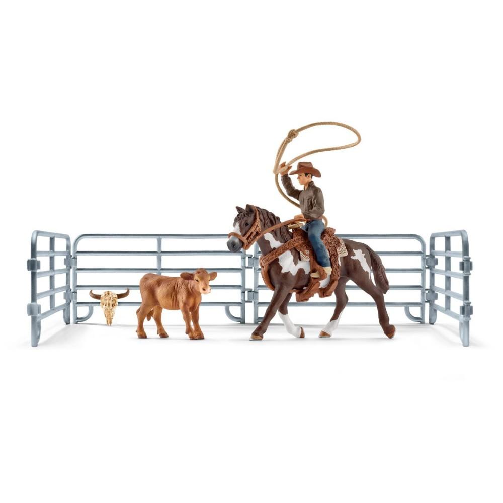 Schleich - Kowboj łapiący na lasso 41418