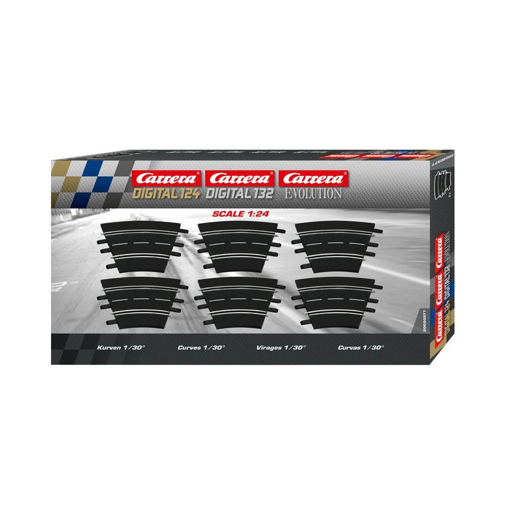 Carrera EVO/DIGITAL 124/132 - Zakręt 1/30 6 szt. 20577