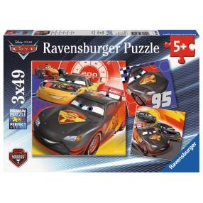 Ravensburger - Puzzle Auta 3 Przygoda na drodze 3x49 elem. 080014