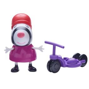 TM Toys Świnka Peppa - Figurka Zebra Zoe z hulajnogą 05680 A