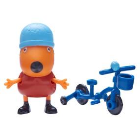 TM Toys Świnka Peppa - Figurka Lisek Freddy z rowerkiem 05680 F