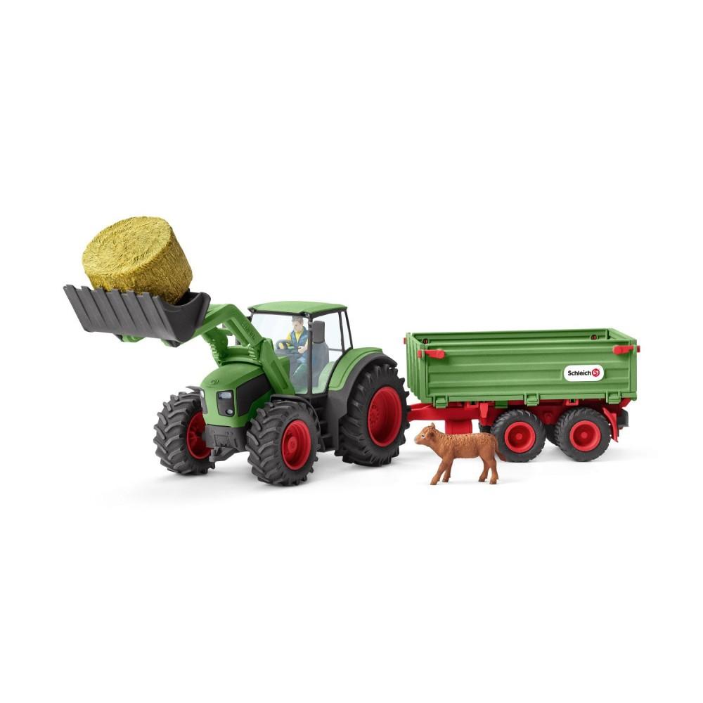 Schleich - Traktor z przyczepą 42379