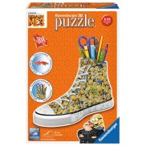 Ravensburger - Puzzle 3D Przybornik Trampek Sneaker Minionki 108 elem. 112623
