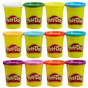 Play-Doh - Ciastolina Tuby podstawowe 6 + 6 B6751