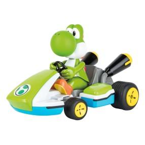 Carrera RC - Mario Kart, Yoshi - Race Kart z dźwiękiem 2.4GHz 1:16 162108 Digital Proportional