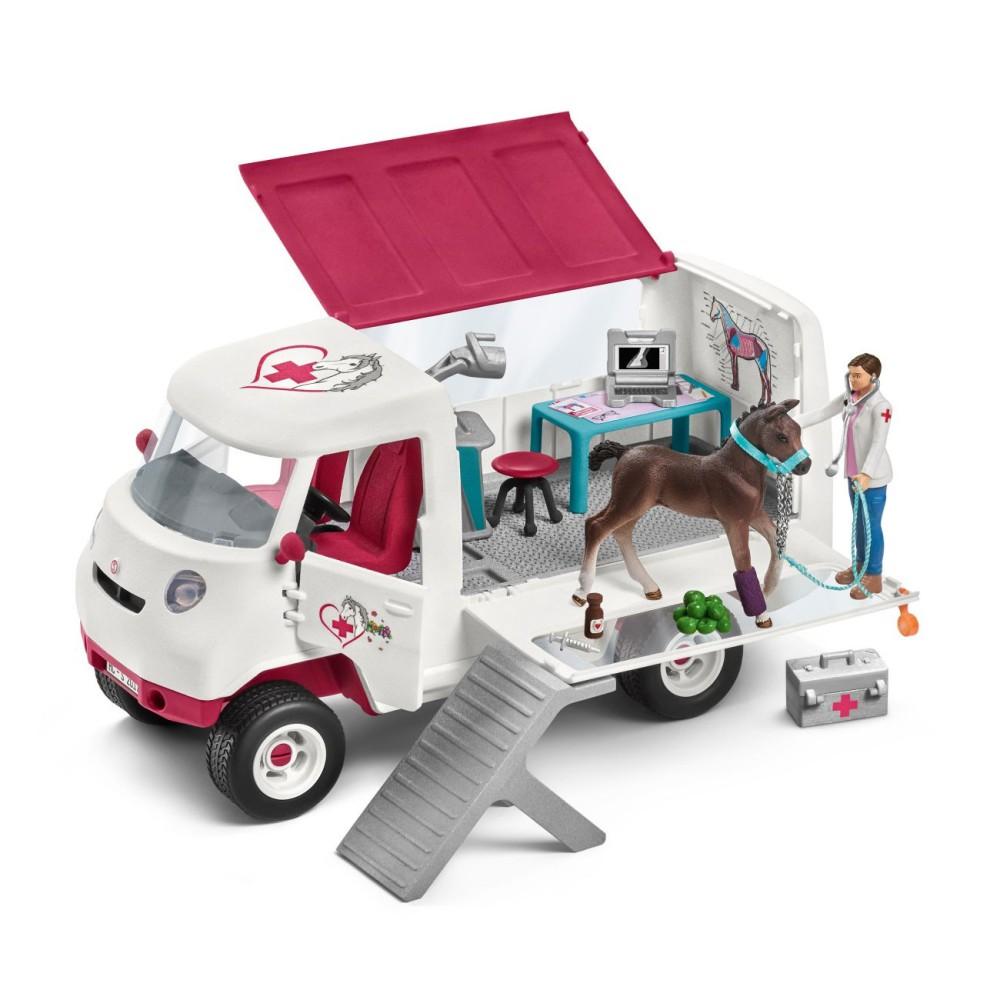 Schleich - Mobilna lecznica dla zwierząt ze źrebakiem 42370