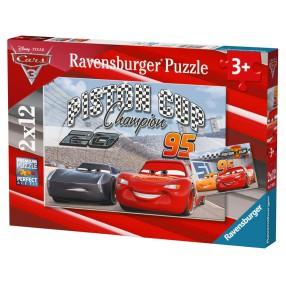 Ravensburger - Auta 3 Puzzle 2 x 12 elem. 076093