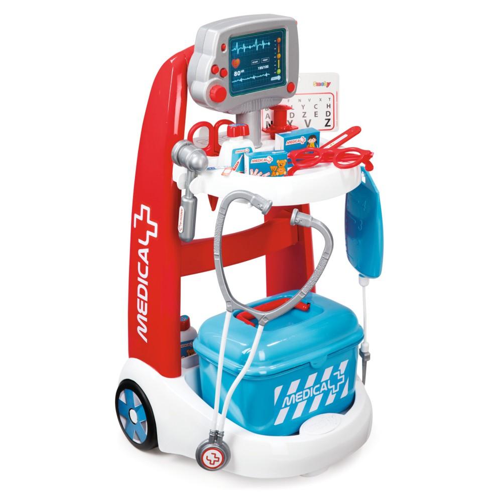 Smoby - Wózek medyczny elektroniczny 340202