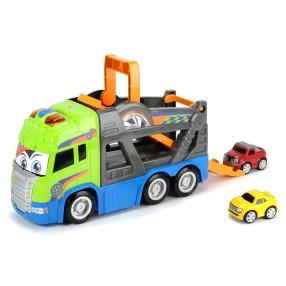 Dickie - Happy Scania Laweta z samochodami Światło Dźwięk 3817000
