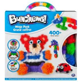 Bunchems kolorowe rzepy - Mega zestaw 400 ele. + akcesoria